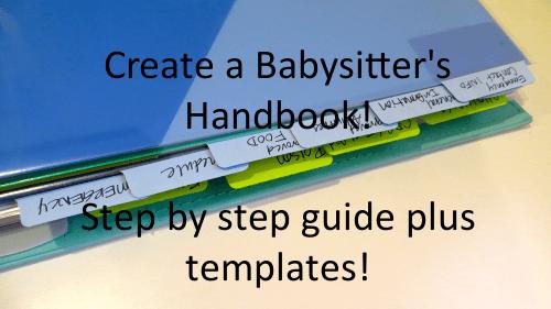 create a babysitter handbook mentormyself